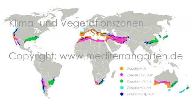 Klimazonen (Zonobiome) und exotische Pflanzen